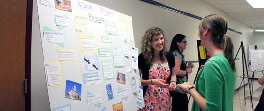 PHOTO: Psychology Students Poster Presentation